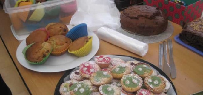 Some of the goodies baked by parents for our cake sale just before the mid-term break.