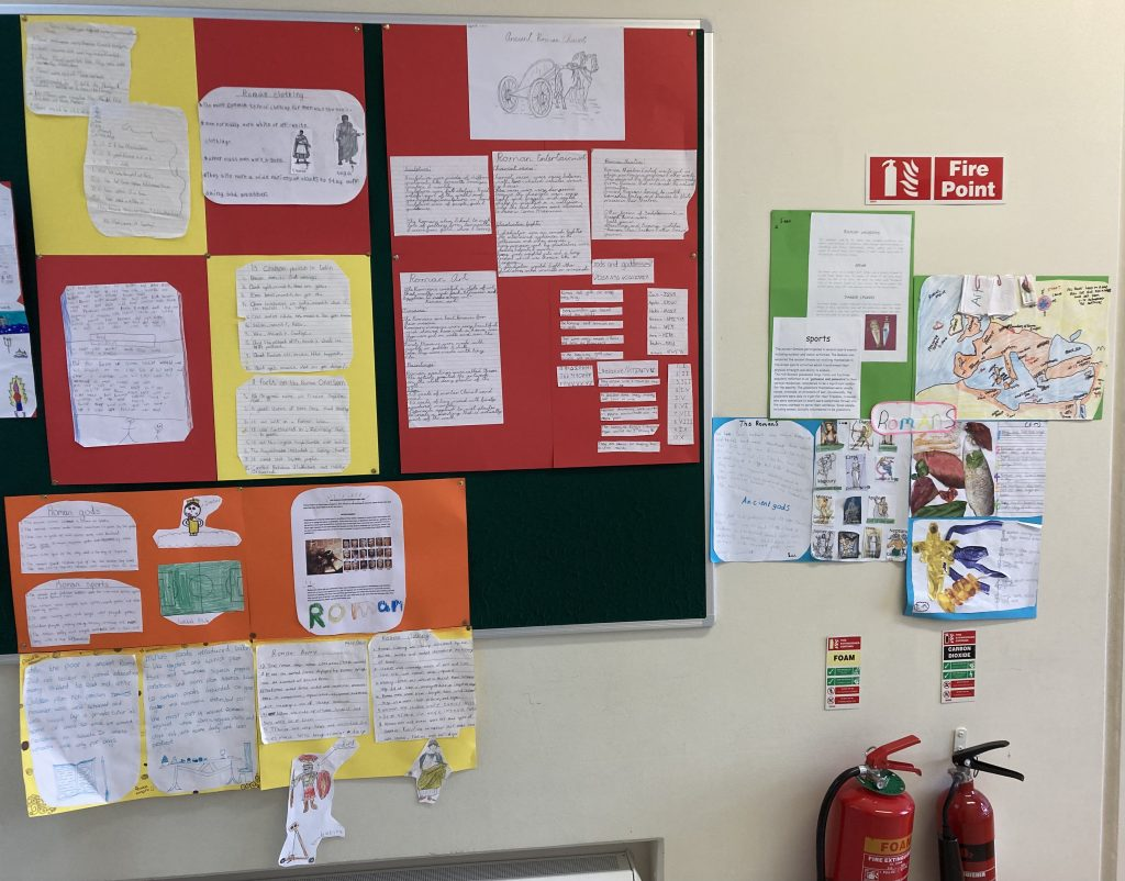 Projects on The Romans - Arlene's 4th Class