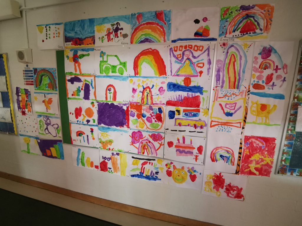 Lydia and Jenny's Junior Infants - Paint anything you want!