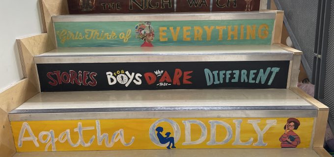 Can you spot a new book you'd like to read? Book spines created by 5th class 2020-21